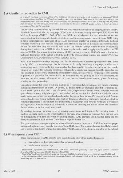 Figure 3. A page of version P4 of the TEI Guidelines.