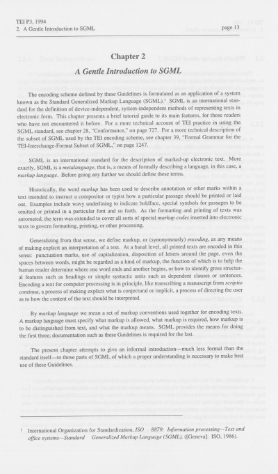 Figure 2. A page of version P3 of the TEI Guidelines.