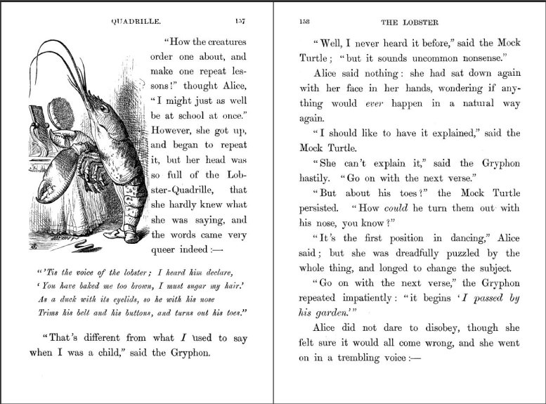 Figure 2. A typical page of Alice's Adventures in Wonderland.