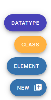 """Figure 23. The """"NEW"""" menu for adding new TEI components in Roma."""